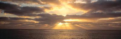 Radiates Photograph - Sunset Sub Antarctic Australia by Panoramic Images