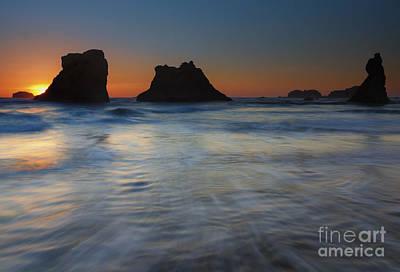 Sunset Surge Print by Mike  Dawson