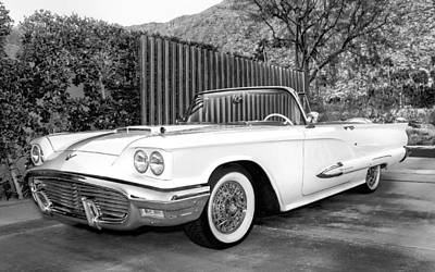 Grill Gate Photograph - Sunset Thunderbird Bw Palm Springs by William Dey