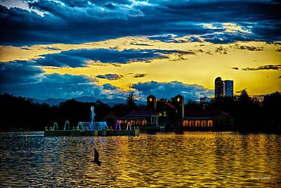 D700 Photograph - Sunset View Denver's City Park by Stephen  Johnson
