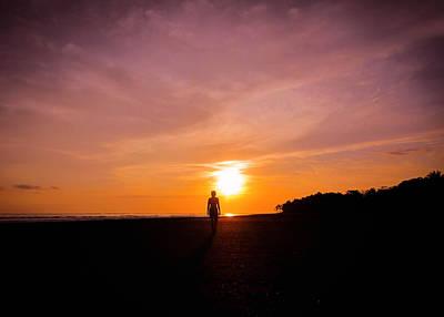 Beach Photograph - Sunset Walk by Nicklas Gustafsson