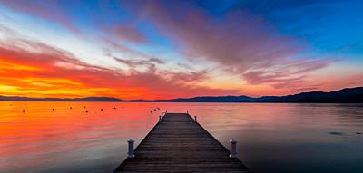 Lake Tahoe Photograph - Sunset Walkway by Edgars Erglis