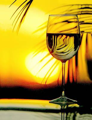 Sunset Wine Print by Jon Neidert