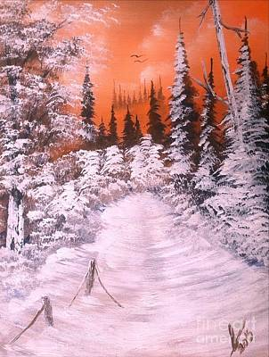 Landscape Painting - Sunset Winter Snow by Collin A Clarke