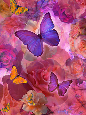 Sunshine Rainbow Flowers Print by Alixandra Mullins