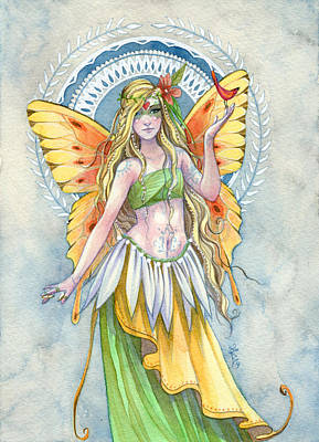 Fantasy Fairy Art Painting - Sunshine by Sara Burrier