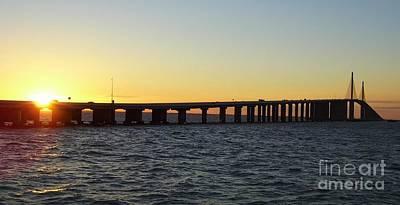 Sunshine Skyway Bridge Print by D Hackett