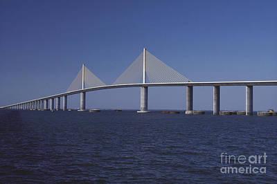 Sunshine Skyway Bridge Photograph - Sunshine Skyway Bridge by Dale E. Boyer