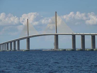 Sunshine Skyway Bridge Florida 2 Print by Andrew Rodgers