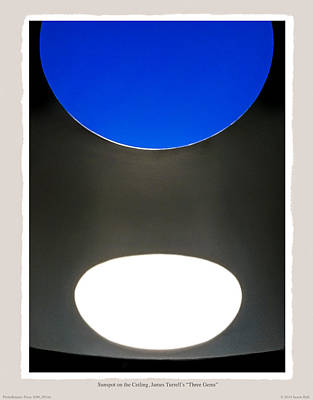 Sunspot On Ceiling James Turrells Three Gems Print by Saxon Holt