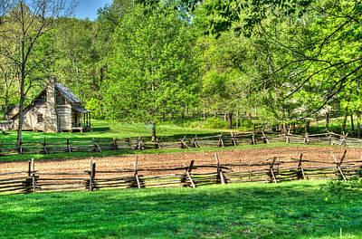 Pioneer Homes Photograph - Sunup Over Pioneer Farm by Douglas Barnett