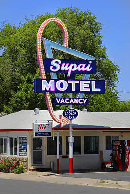 Motel Digital Art - Supai Motel - Seligman by Mike McGlothlen