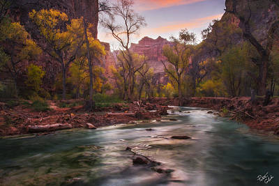 Peter James Nature Photograph - Supai Sunrise by Peter Coskun