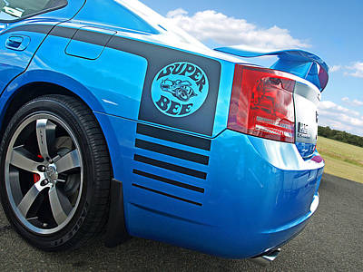 Super Bee Photograph - Super Bee Dodge Charger Srt8 by Gill Billington