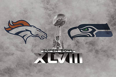 Super Bowl Xlvlll Print by Joe Hamilton