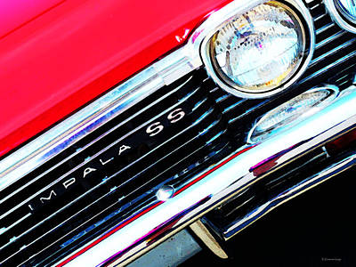 Buying Online Digital Art - Super Sport 2 - Chevy Impala Classic Car by Sharon Cummings