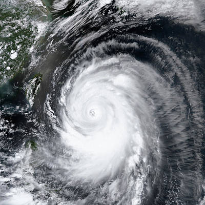 Extreme Weather Photograph - Super Typhoon Neoguri by Nasa
