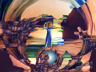 Other Worlds Digital Art - Super Woman by Ursula Freer