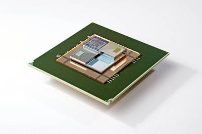 Electronics Photograph - Supercomputer Microchip Stack by Ibm Research