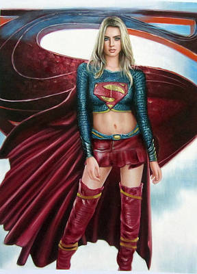 Supergirl Print by Brendon Larimore