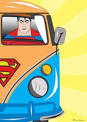 Superman 4 Print by Mark Ashkenazi