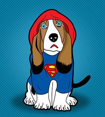 Superman Dog  Print by Mark Ashkenazi