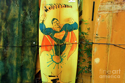 Superman Surfboard Print by Bob Christopher