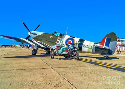 Spitfire Photograph - Supermarine Mk959 Spitfire by Nick Zelinsky