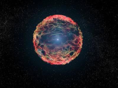 Stellar Photograph - Supernova 1993j by Nasa, Esa, G. Bacon
