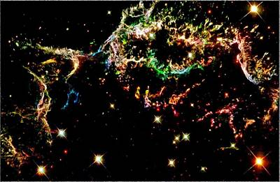 Supernova Remnant Cassiopeia A Print by Amanda Struz
