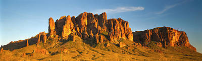 Golden Afternoon Photograph - Superstition Mountains, Arizona, Usa by Panoramic Images