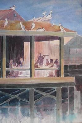 Bird Painting - Supper Time by John  Svenson
