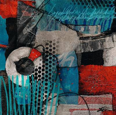 Red White And Blue Mixed Media - Support Her by Laura  Lein-Svencner