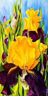 Irises Painting - Supreme Sultan Iris by Janis Grau