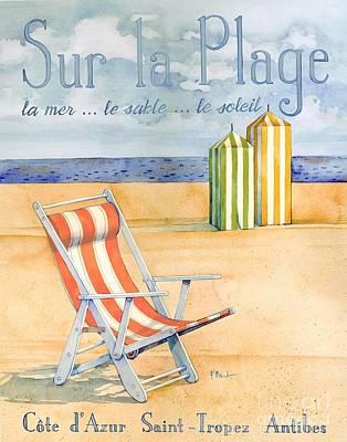 Soleil Painting - Sur La Plage by Paul Brent