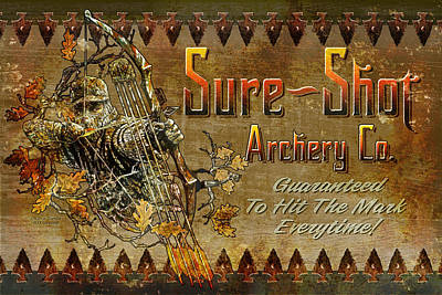 Bows Painting - Sure Shot Archery by JQ Licensing