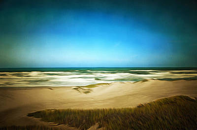 Waterscape Painting - Surf Beach Lompoc California Digital by Barbara Snyder