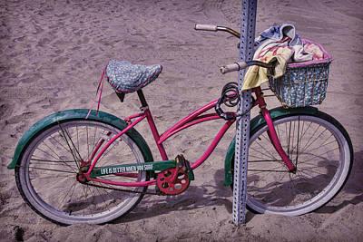 Handlebar Photograph - Surf Bike by Garry Gay