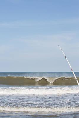 Surf Fishing Print by Kay Pickens