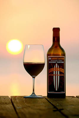 Wine-glass Photograph - Surf Tomorrow  by Jon Neidert
