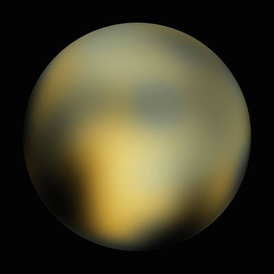 Surface Of Pluto Print by Nasa/esa/sri (m. Buie)