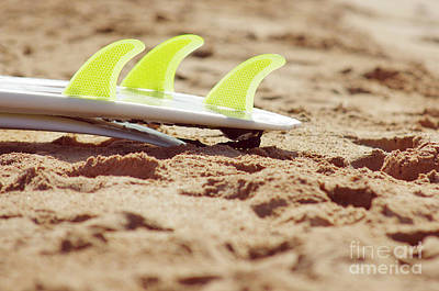 Surf Lifestyle Photograph - Surfboard Fins by Carlos Caetano