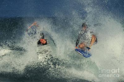 Surfers, Oahu Print by Ron Sanford