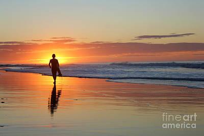 Surfing Photograph - Surfers Sunrise by Stav Stavit Zagron