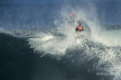 Surfing Print by Ron Sanford