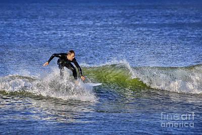 Surfing Usa Print by Evelina Kremsdorf