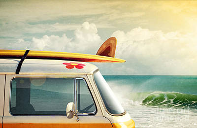 Surfing Way Of Life Print by Carlos Caetano