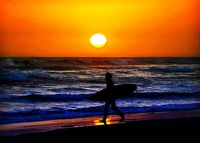 Stroll Digital Art - Surfs Up by Camille Lopez