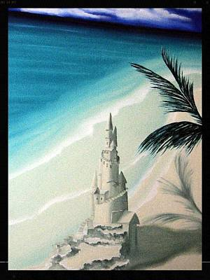 Sand Castles Painting - Surprise Blessing by Dianna Lewis