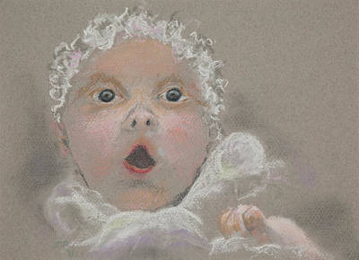 Surprised Baby Print by Jocelyn Paine